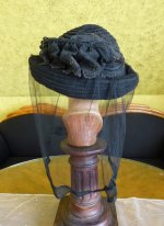 9 antique mourning Hat 1905