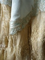 107 antique evening gown Worth 1894