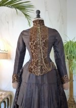 3 antique bustle gown