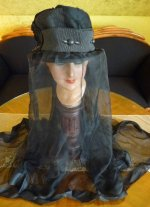 8 antique mourning hat 1910