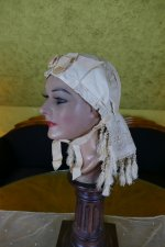 3 antique wedding bonnet 1870