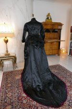 25 antique Pingat bustle dress 1880