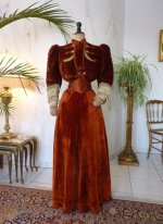 antique dress, dress 1901, antique gown, gown 1901, antique walking dress, antique visiting ensemble
