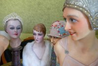 9 antique mannequins