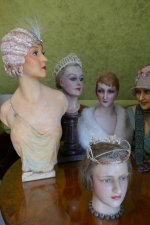 4 antique mannequins