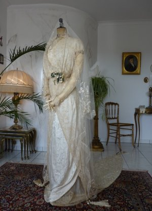 antique wedding gown