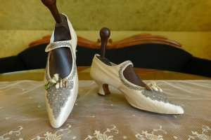antique wedding boots 1906