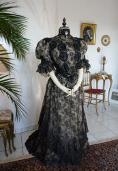 antique reception gown 1898