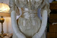 9 antique ball gown 1900