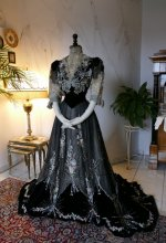 11 antique Gustave Beer gown 1906