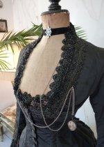 4 antique mourning dress 1879
