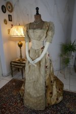 10 antique LEROUX Ball gown 1890
