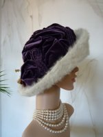 antique hat, antique autumn hat, autumn hat 1910, hat 1910, antique dress, antique gown, edwardian hat, chapeau ancien