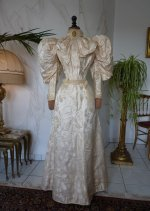 48a antique bridal gown 1895