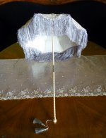 2 antique victorian parasol 1885