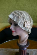 4 antique boudoir bonnet 1920