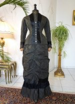 5 antique bustle day dress 1875