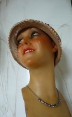 antique mannequin, antique bust, wax bust, wax bust 1920, Kleiser Vienne, antique Jewellery Display Wax