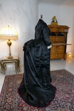 33 antique Pingat bustle dress 1880