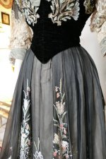 8 antique Gustave Beer gown 1906