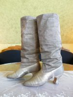 14 antique gold lamee boots 1920
