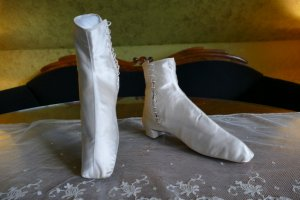 antique wedding Boots 1860