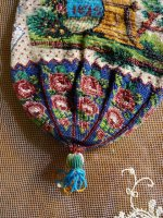9 antique beaded Purse 1825