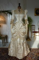 17 antique bustle wedding gown 1879