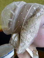 5 antique wedding bonnet 1840