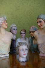 6 antique mannequins