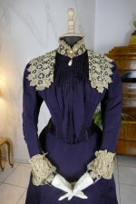 3 antique Madame Percy Visiting gown 1898