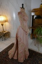 38 antique Rousset Paris society dress 1899