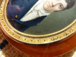 antique snuff box, snuff box 1812, E. Lami, Portrait miniature, watercolor on ivory, miniature on ivory, antique box, box 1810, box 1812, box empire era