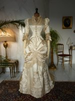 2 antique bustle wedding gown 1879