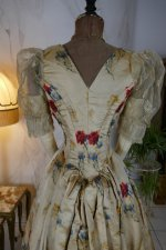 17 antique LEROUX Ball gown 1890