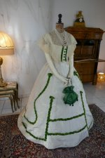 2 antique ball gown 1865