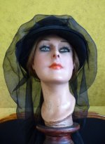 4 antique mourning hat 1910