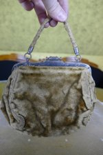 2 antique plush handbag 1884