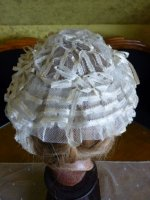 8 antique wedding bonnet 1850