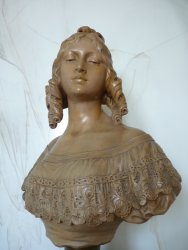 antique female bust HB