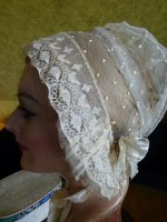 12 antique wedding bonnet 1840