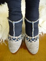 2 antique rhinestone shoes 1920