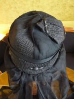 16 antique mourning hat 1910