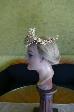 7 antique wax headpiece 1880
