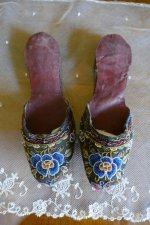 2 antique slippers 1870