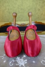 2 antique evening shoes 1880