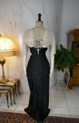 antique evening gown Nelmarie 1913
