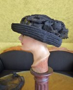 16 antique mourning Hat 1905