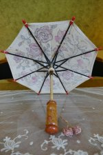 2 antique doll Umbrella 1929