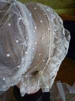 19 antique wedding bonnet 1840